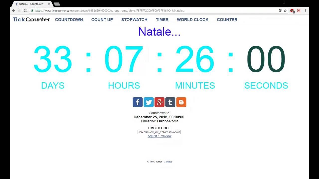 Countdown Natale.Countdown Natale