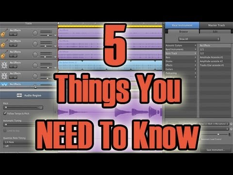 Garageband Tutorial For Beginners - 5 Things You Need To Know