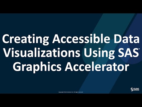 SAS Accessibility Webinar | Creating Accessible Data Visualizations Using SAS Graphics Accelerator