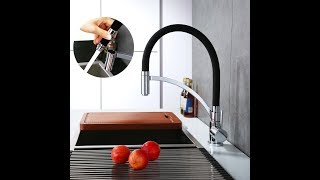 Homelody Black Chrome Kitchen Sink Mixer Tap with swivel spray