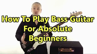 Beginner Bass Guitar Lesson - First Lesson: Absolute Basics (L#86)