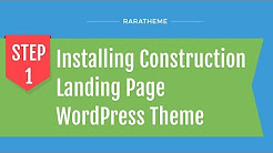 Construction Landing Page WordPress Theme Customization Tutorial (Step-by-Step)