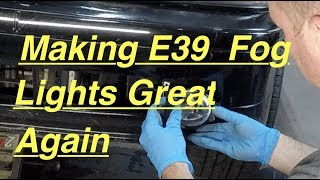 How To Make Your BMW E39 Fog Lights Brighter !!! Replacement And LED Bulbs