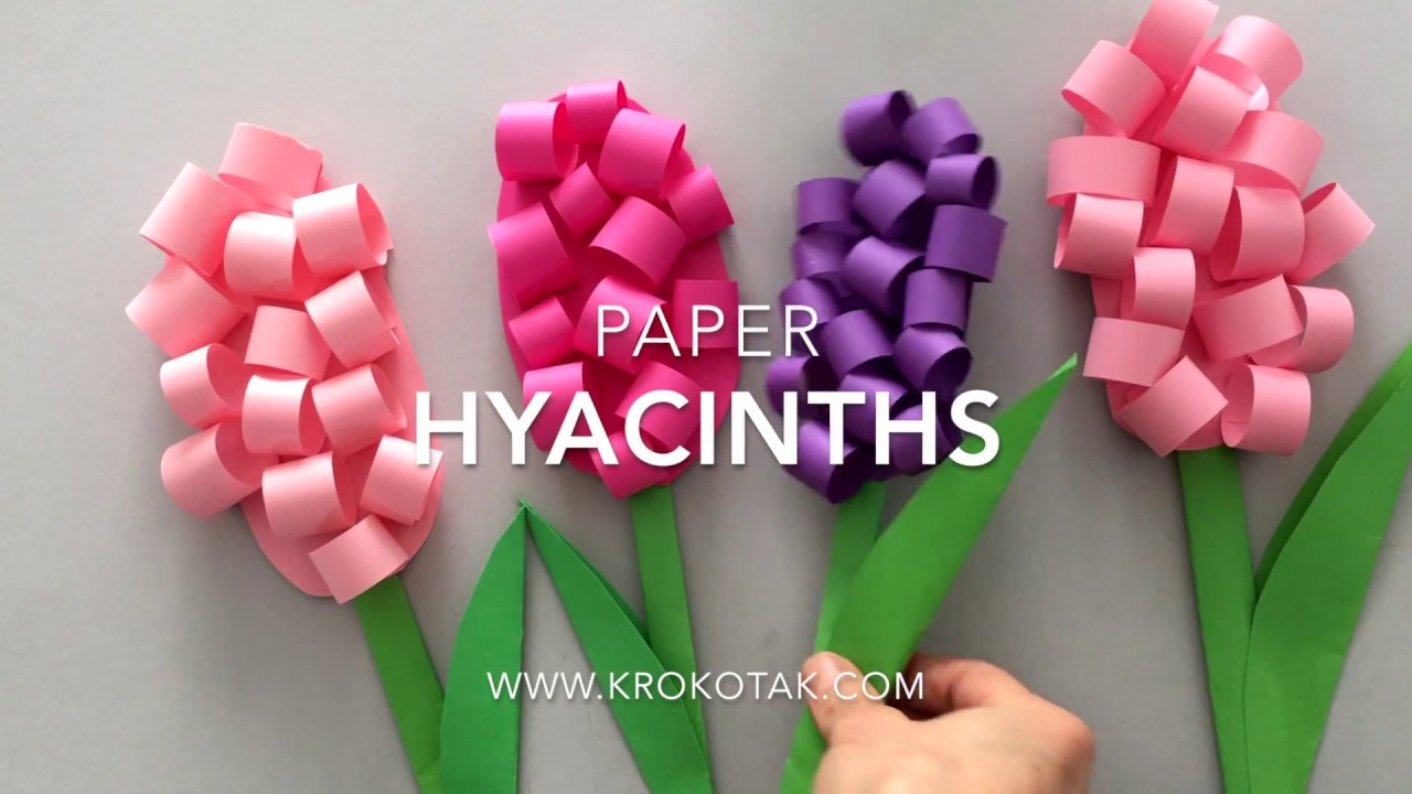Paper Hyacinths Youtube