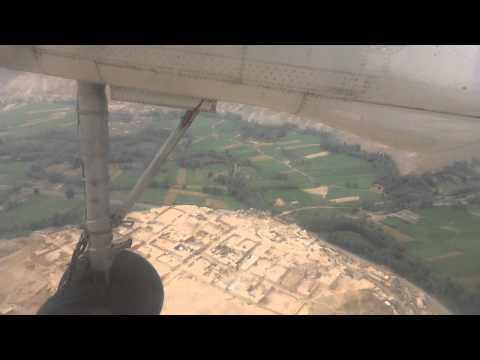 Afghanistan: Landing at Bamian Airport by East Horizon Plane バーミヤン空港に着陸