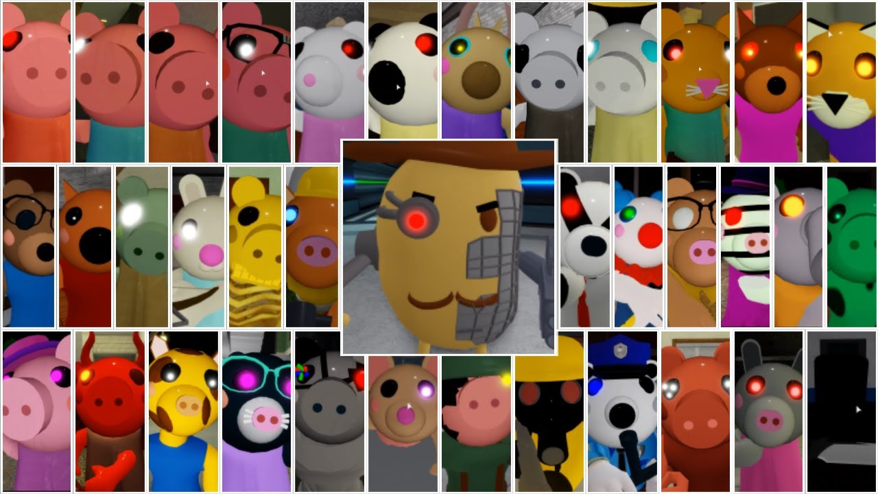 Roblox Piggy All Characters Fanart Roblox Piggy All Jumpscares Youtube