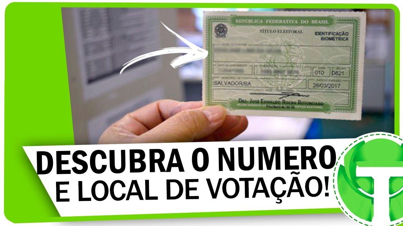 Como descobrir o NÚMERO DO TITULO DE ELEITOR e o local de votação!