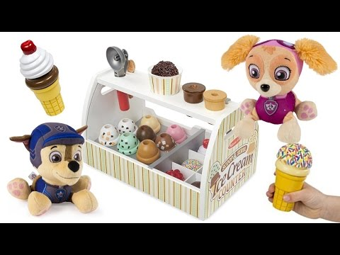 Thumbnail: Paw Patrol Eats ICE CREAM Skye Marshall Chase Learn Colors for Children Colours