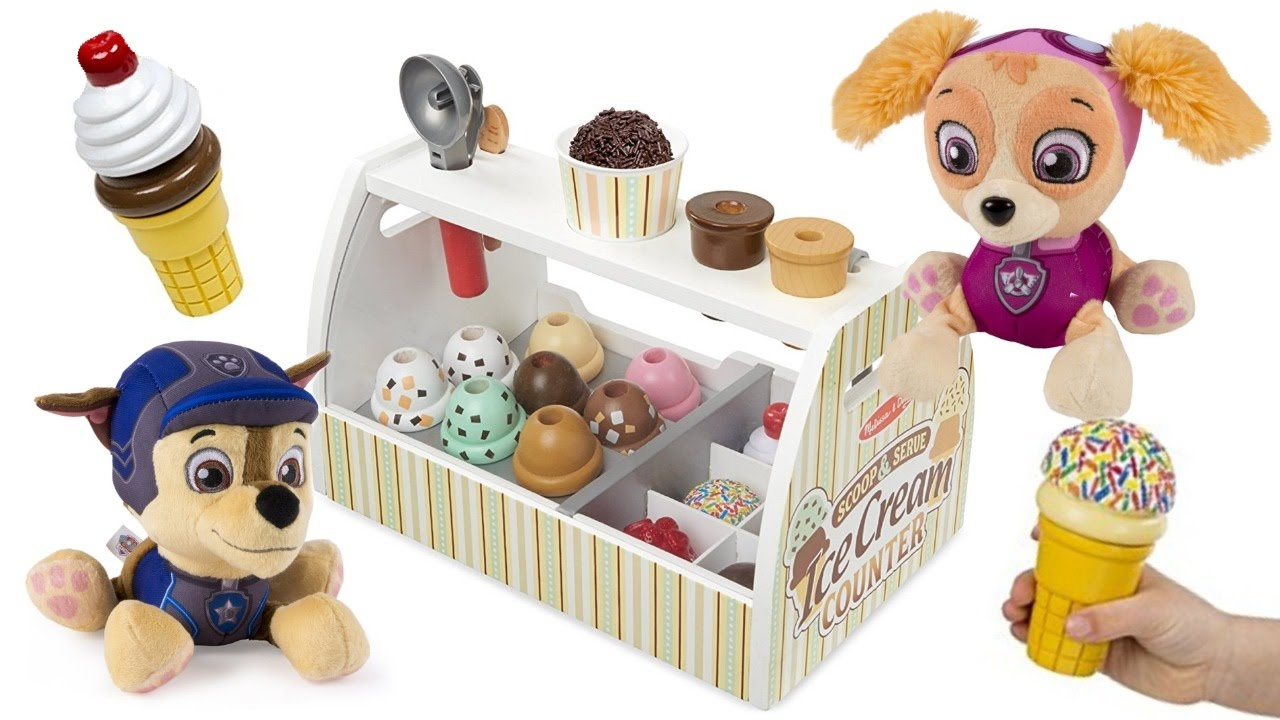 paw-patrol-eats-ice-cream-skye-marshall-chase-learn-colors-for-children-colours