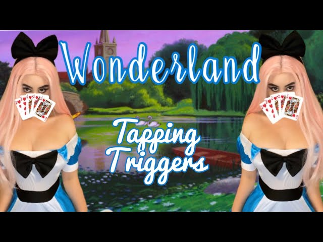Alice inspired 🖤 WONDERLAND tapping triggers! Tap tap tap ❤️