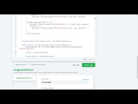 Hackerrank Solution - Time Conversion warmup    java