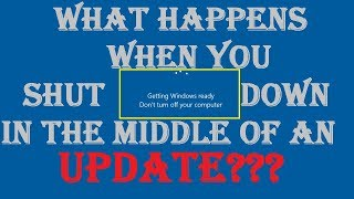 What Happens When You Turn Off Your PC While Updating? Windows 10 )