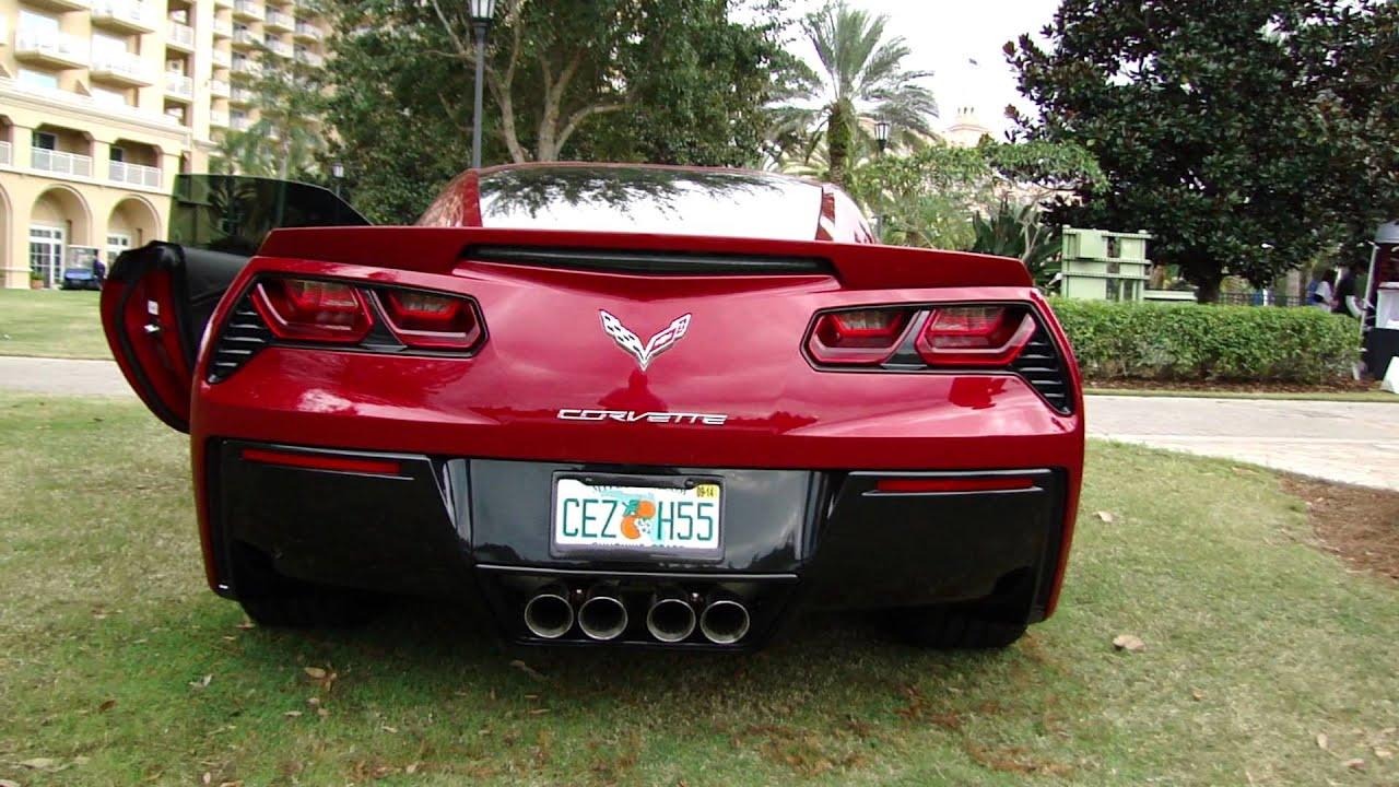 Red 2014 c7 corvette the 2013 orlando festival of speed 2014 corvette white with red interior