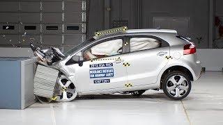 2012 Kia Rio moderate overlap IIHS crash test