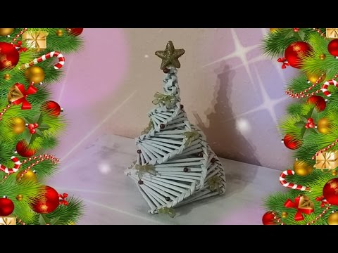 Albero Di Natale Con Cannucce Di Carta.Albero Di Natale Fatto Con Le Cannucce Si Carta Youtube