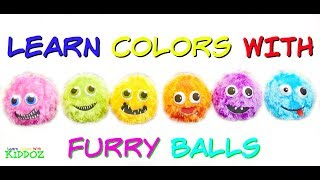 Learn Colors With FURRY BALLS