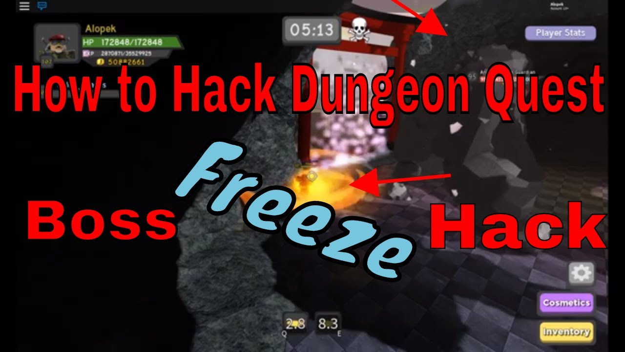How To Jump Hack On Roblox Roblox Dungeon Quest All How To Hack Dungeon Quest Freezing Bosses Samurai Palace Roblox Youtube