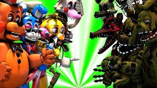 Top 10: Best Five Nights at Freddy's FIGHT Animations 2020 (KILL FNAF VS Animations)