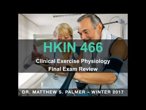 HKIN466 - Final Exam Review