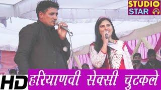 sangeeta jangra azad khanda best haryanvi chutkule 2016   jokes ragni competition studio star