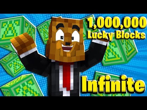FUNNIEST Prank INFINITE Minecraft Lucky Blocks (1,000,000+ Lucky Blocks)    JeromeASF