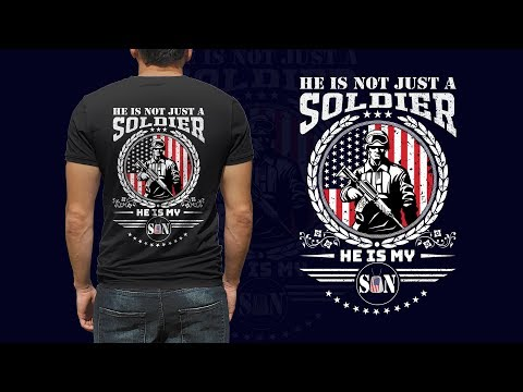 US Army T-Shirt Design - Military T-Shirt Design Illustrator Tutorial
