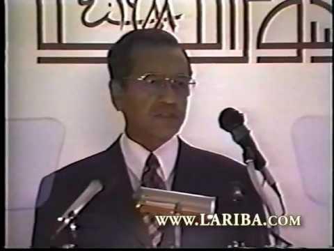 Dr Mahathir Bin Mohamad, Malaysian Prime Minister. Recepient of LARIBA Lifetime Achievement Award
