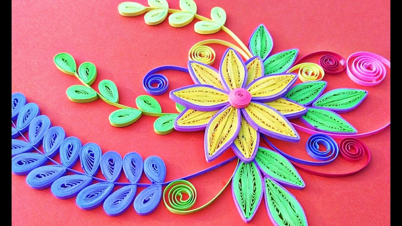 Paper art how to make quilling paper art beautiful flowers tutorial (quilling art)