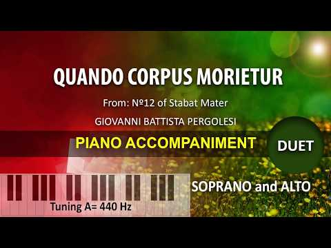 Quando Corpus Morietur / Karaoke piano: duet for Soprano and Alto