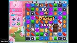 Candy Crush Level 1145 Audio Talkthrough, 2 Stars 0 Boosters