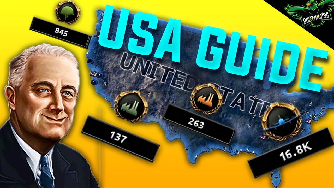 Hearts of Iron 4 Man the Guns USA Guide 1936 - 1945 (HOI4 MTG America  Tutorial Expansion Guide)