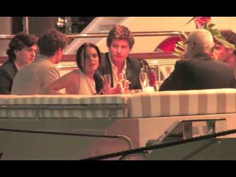 Lindsay Lohan dinner on a boat at Cannes Film Festival