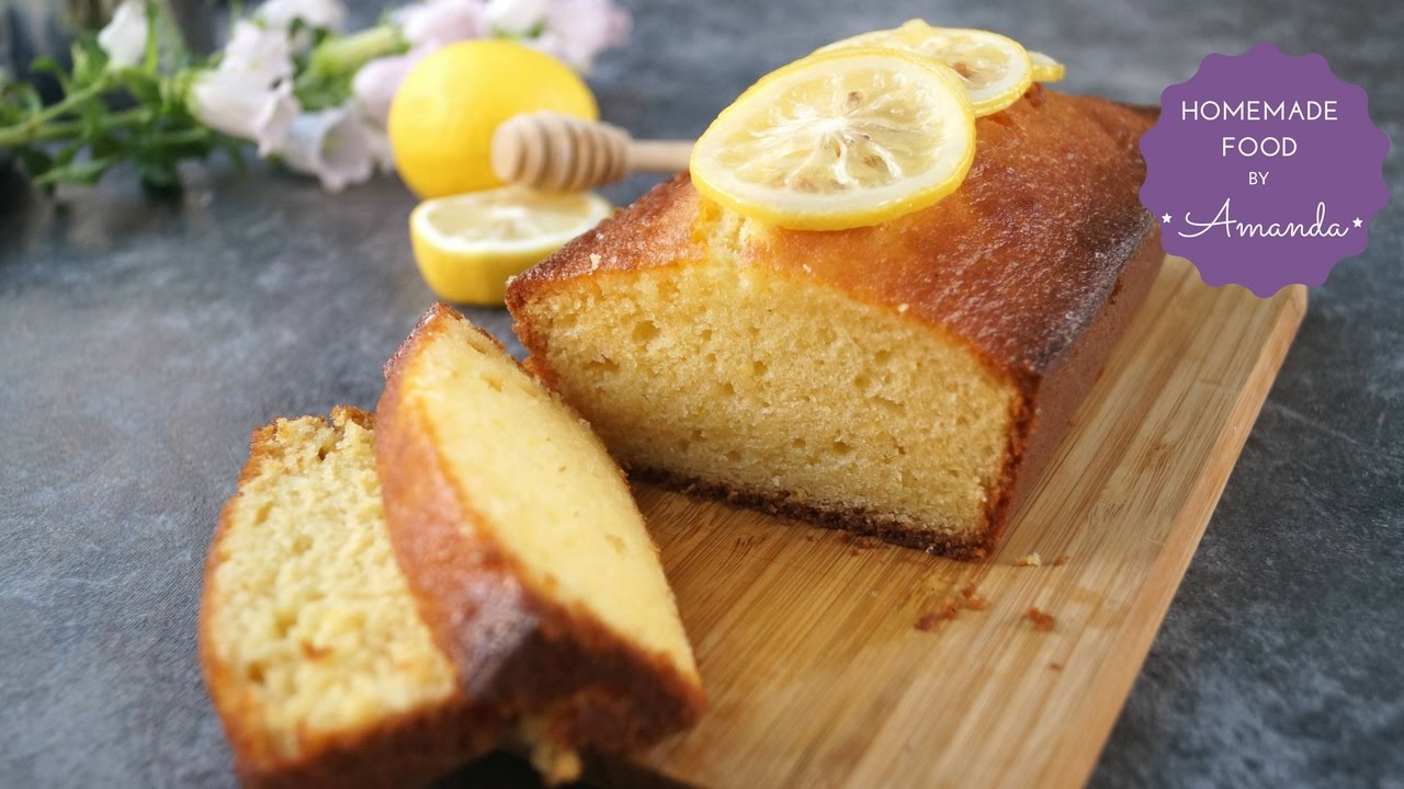 Super Moist Honey Lemon Pound Cake Recipe Homemade Food