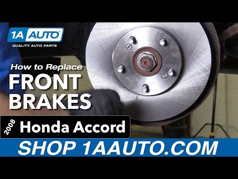 How to Replace Install Front Brakes 08 Honda Accord