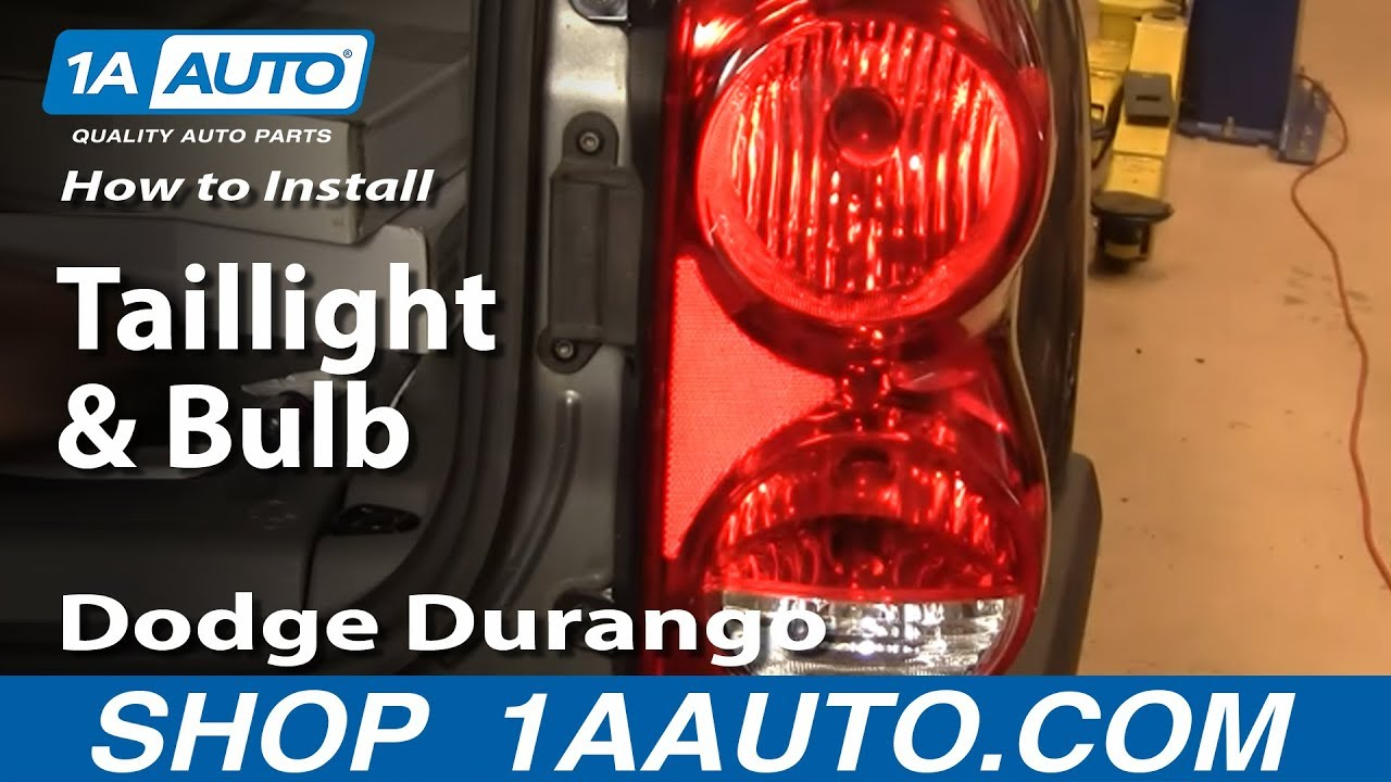 How To Install Replace Taillight And Bulb Dodge Durango 04 09 1aauto