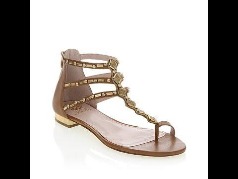 5765503da121 Vince Camuto Hanelli Embellished Leather Sandal - YouTube