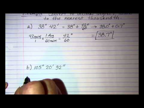 Converting from Degrees Minutes Seconds to Decimal Degrees