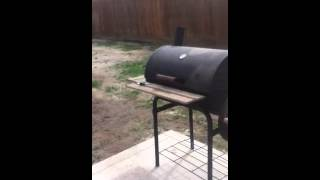 Uds Smoker Cooking Some St. Louis Style Ribs.
