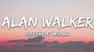 Alan Walker - Different World (Lyrics) ft. Sofia Carson, K-391, CORSAK