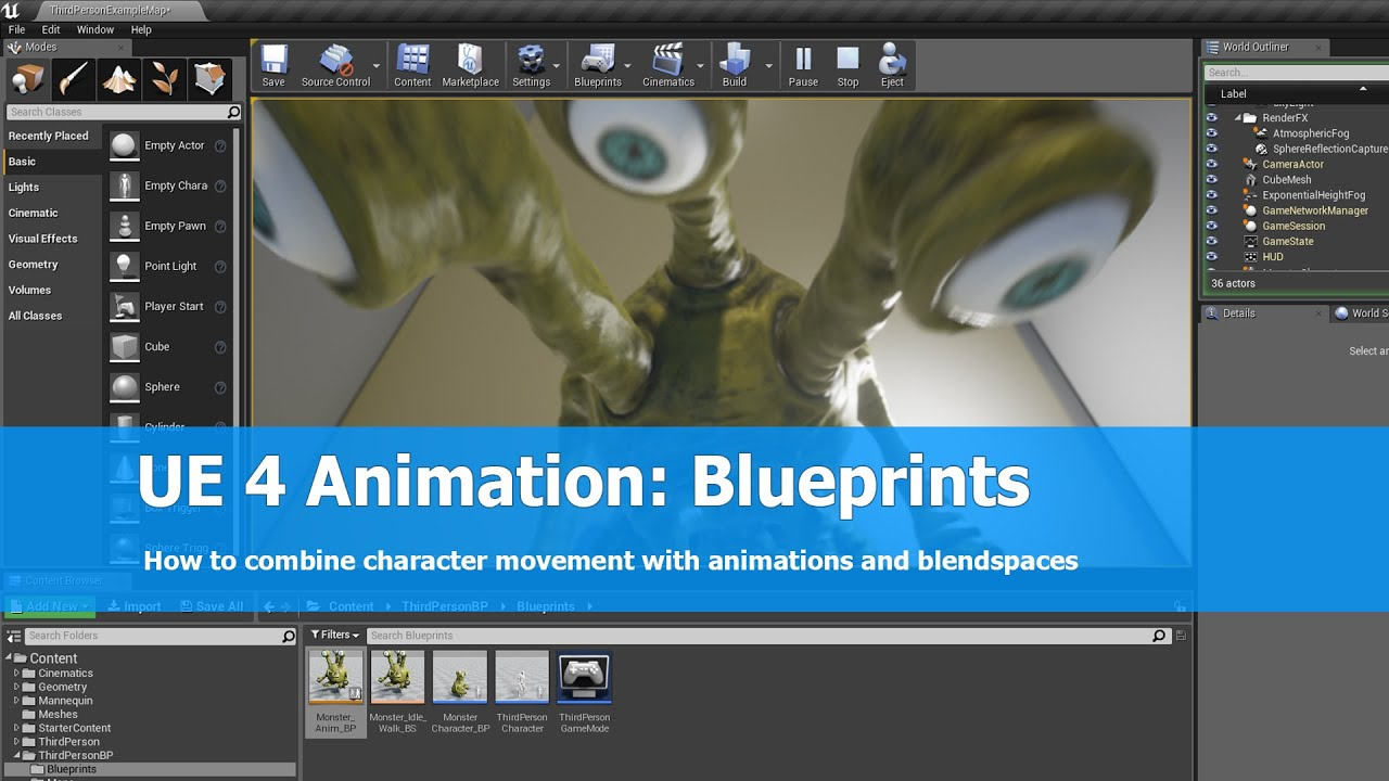 Unreal engine 4 animation blueprints tutorial youtube malvernweather Images