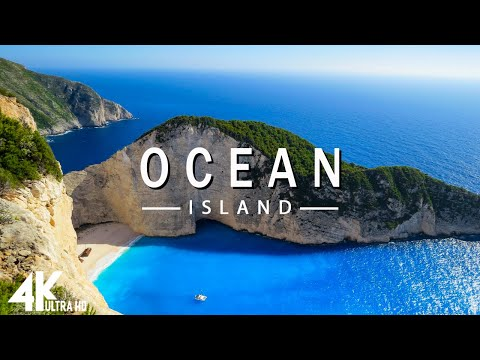 FLYING OVER OCEAN (4K UHD) - Relaxing Music Along With Beautiful Nature Videos - 4K Video Ultra HD