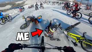 """Can I Beat 1000 Bikers In A Race Down """"The Mountain of Hell""""?"""
