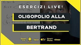 Oligopolio alla Bertrand (con paradosso) | Microeconomia (Economia Politica) | Esercizio