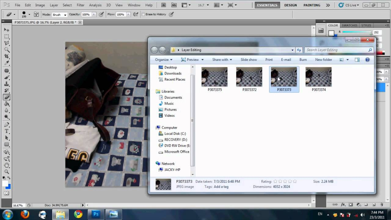 how to delete objects in photoshop cs5