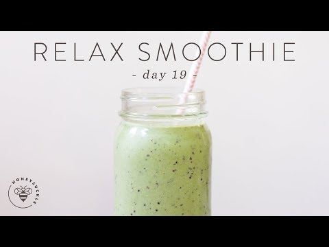 Stress Reducing Green SMOOTHIE and Relaxation TIPS 🐝 DAY 19 | HONEYSUCKLE
