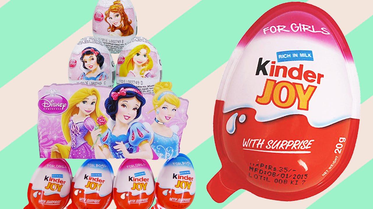 Disney Princess Kinder Joy Surprise Eggs Cinderella
