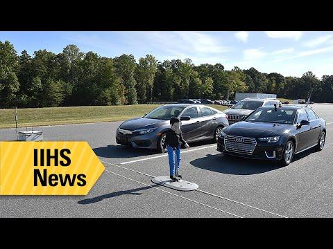 Not all cars' pedestrian detection systems created equal, so the IIHS tested them