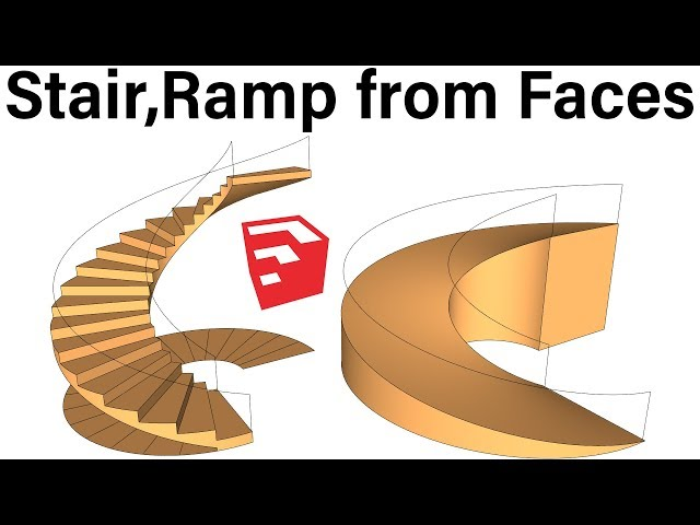 How to Use s4u Stair plugin in SketchUp - YouTube