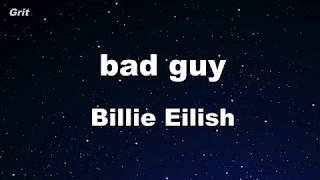 bad guy - Billie Eilish Karaoke 【No Guide Melody】 Instrumental
