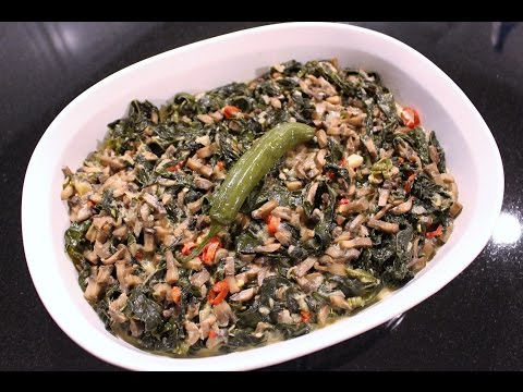 Vegan Laing with Kale (Kale with Coconut Milk)